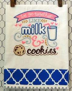 Milk and Cookie by seechriscreate on Etsy https://www.etsy.com/listing/229547901/milk-and-cookie