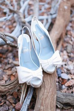 Currently lusting after these lovely Louboutins! #wedding #shoes #bridal #footwear #bride #louboutin Real Wedding // A Carnival Of Colours In The Desert // Photographer - Gideon Photography.