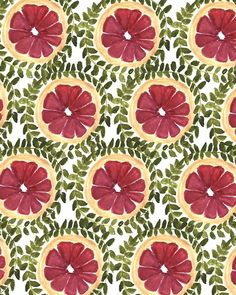 Blood Orange. #pattern #illustration