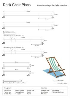 Deck Chair Plans | Chair Plans DIY & Blueprints