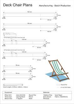 Planos de cadeira de praia