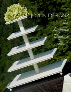 Large 5 Tiered Simplistic Elegance Cupcake Stand by JoplinDesignz