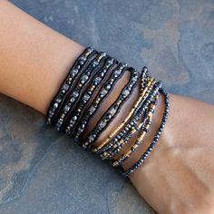 Chan Luu - Black Mix Crystal Multi Strand Bracelet, $80.00 (http://www.chanluu.com/bracelets/black-mix-crystal-multi-strand-bracelet/)