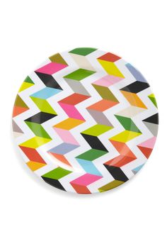 "Inspiration - This chevron pattern reminds me of a quilt pattern, maybe ""Stacking Blocks"" (?), the color would be darling in a baby quilt, I have never seen the pattern done in such bright colors"