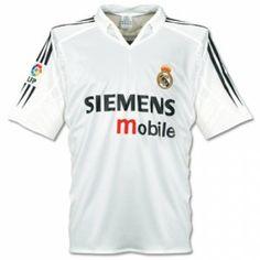 Real Madrid C.F 2004-05 Season Home White Retro Blancos Jersey Shirt Real  Madrid C.F 2004-05 Season Home White Retro Blancos Jersey Shirt  5caa14778