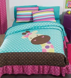 NEW Jirafa Teens Bedspread Set and Sheet Set (Full/Queen) -- Check this awesome product by going to the link at the image. Quilt Baby, Baby Quilt Patterns, Kids Bedding Sets, Comforter Set, Twin Sheet Sets, Girls Quilts, Bed Covers, Baby Sewing, Bed Spreads