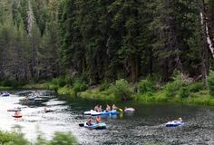 Floating down the Truckee River.