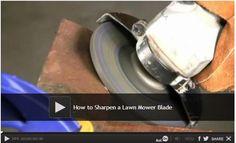 Video: How to Sharpen a Lawn Mower Blade: A sharp lawn mower blade will help keep your grass healthy. We show you how to keep your lawn mower's blade sharp. Watch: http://www.familyhandyman.com/automotive/lawn-mower-repair/how-to-sharpen-a-lawn-mower-blade
