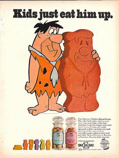Vintage advertisement for Flintstones Vitamins