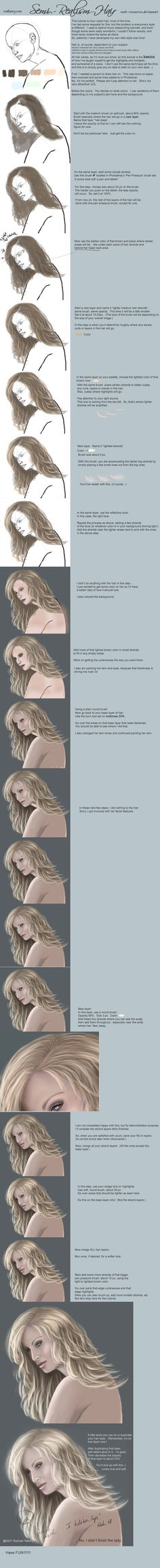 Semi-Realism Hair Tutorial-PS by Rach-Resources