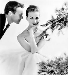 John French Photography 1955, a very artistic depiction of retro make-up, fashion, modeling and Christmas!