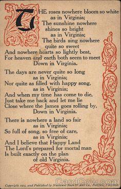 Poem About Virginia Poems U0026 Poets