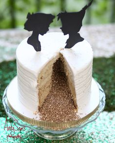 When you get the chance, indulge in a little cake. | This Peter Pan Wedding Will Make You Feel Like A Kid Again