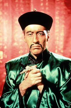 """Dr. Fu Manchu, symbol of """"yellow peril"""". The photo speaks for itself."""