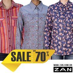 Camisas para deixar o look fashion e elegante. #VaideZan