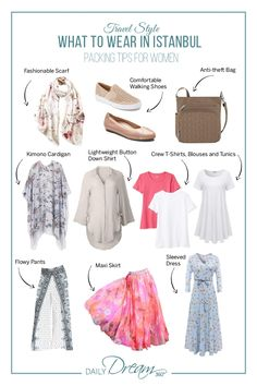 Planning a trip to Istanbul? We have some great Istanbul packing tips including what to wear in Istanbul. Check out our list of fashions perfect for travelling to a conservative country. Hue Leggings, Straight Cut Pants, Istanbul Travel, Packing Tips, Europe Packing, Traveling Europe, Backpacking Europe, Trendy Plus Size Fashion, Long Tunic Tops