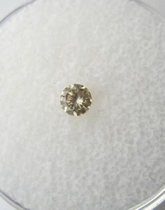 0.18 carats Round Champagne DIAMOND 3.6mm Loose Genuine Diamond