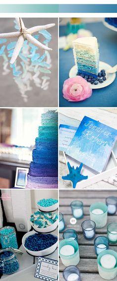 Unique Ombre Wedding Color Ideas for 2017 Spring 2017 Wedding Trends, Wedding 2017, Wedding Themes, Blue Wedding, Floral Wedding, Wedding Ideas, Fall Wedding, Dream Wedding, Wedding Decorations
