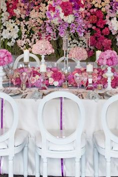 Let's celebrate! Beautiful pink themed tablescape