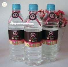Garrafa D'água  com rótulo personalizado (11) 5181-1707 atendimento@scrapmemory.com.br www.scrapmemory.com.br
