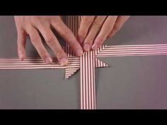 Fröbelstern basteln - kerststerren vouwen - folding 3D christmas stars