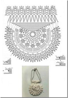 Bolso Circular de Crochet - Patrones Crochet