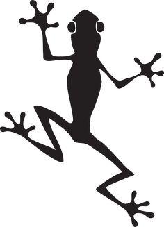 yeux, grenouille, silhouette, amphibiens