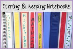 Tips for storing and keeping notebooks in your homeschool. Love these ideas!