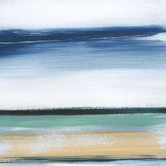 Beautiful brush strokes create a serene horizon landscape. This piece is part of a series of four pieces.