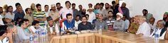 Minister for CA&PD Chowdhary Zulfkar Ali interacting with civil society in Poonch.