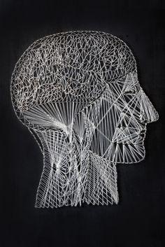 Anatomical string art! Alan Dindo: Brain