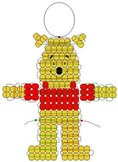 Christmas Pony Bead Patterns | Winnie the Pooh pony beads pattern