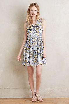 So pretty! Avenida Ruffled Dress #anthropologie