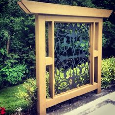 Decorative laser cut privacy screens custom built for a beautiful house in the Bridal Path.
