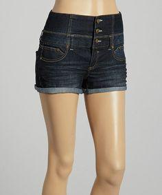 Another great find on #zulily! Dark Blue High-Waist Denim Shorts by Boom Boom Jeans #zulilyfinds