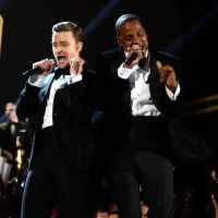 JT and Jay.Z at the 2013 Grammy