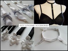 A little sneak peek at the Esty Lingerie accessories collection that launches tomorrow, including suspenders, garters and bra straps!