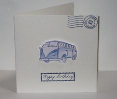 VW Campervan Birthday Card by thesparklyfairy on Etsy #kombilove