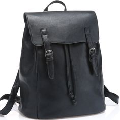 "JOYSON Women Backpack Vintage PU Leather Backpack School Travel Bags Shoulder Bags Black. Material: This Fashion Daypack is Made of High Quality PU Leather, Fabric Lining. Drawstring Closure Under the Flap and Flap with Snap Button Closure, the Buckle only Has Decorate Function. It has a Zipper Pocket on the back side for Extra Storage . Backpack Demission:11.81""X6.69""X13.77"". Inside Structure: Main Compartment for Book or Magazine as well as Plenty Space for Your Normal Purse Items, 1..."