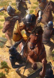 Kaedweni cavalry gwent card art