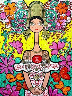 Amazing Panamanian artist, Rolo de Sedas. I love my people!