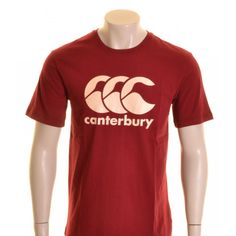 Canterbury CCC Logo T-Shirt Biking Red and Cream - £16.00 at ShopRugby.com #Rugby #Canterbury