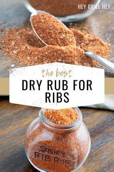 Smoked Ribs Rub, Bbq Rib Rub, Rub For Pork Ribs, Dry Rub Ribs, Smoked Pork, Pork Rib Rub Recipe, Beef Rib Fingers Recipe, Best Bbq Rub Recipe, Homemade Spices