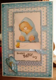 Forever Friends Baby Boy Card New Baby Cards, New Baby Gifts, Forever Friends Cards, Baby Kids, Baby Boy, Births, 3d Cards, Photo Craft, Scrapbook Cards