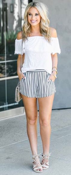Can't get enough of these striped shorts via https://instagram.com/p/BT7tT9RFpV4/