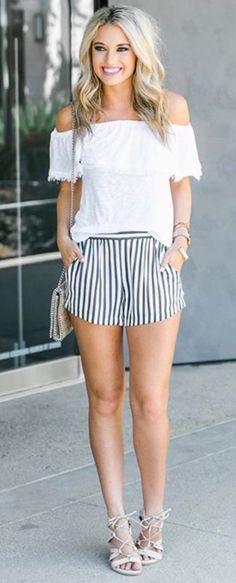 Can't get enough of these striped shorts via https://instagram.com/p/BT7tT9RFpV4/