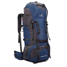 9db27aec4a64 Tactical Camping Hiking Traveling Mountaineering Backpack -Color  Dark Blue    Additional details at the pin image