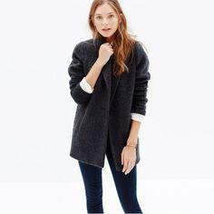 cozy grey coat.