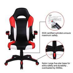 amazon com myka s ergonomic pu leather reclining racing chair high