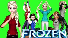 Frozen Cartoons Singing Nursery Rhymes for Babies | Frozen Songs For Kid...